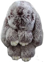 Valpeak Real Rabbit Fur Doll Keychain for Womens Bag Charms or Car Pendant Key Chain