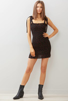 Free People Bella Smocked Slip Dress Black Multi XS