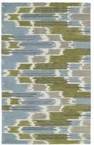 Leon Hand-tufted de Ikat Wasabi Rug (5'0 x 7'9)