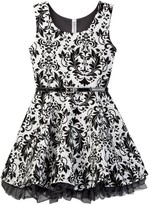 Beautees Flocked Dress (Big Girls)