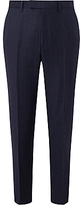 John Lewis Ermenegildo Zegna Super 160s Wool Check Tailored Suit Trousers, Navy
