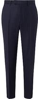 John Lewis Ermenegildo Zegna Super 160s Wool Check Tailored Suit Trousers, Navy