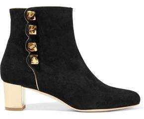 Malone Souliers Effie Embellished Suede Ankle Boots