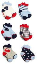 Elegant Baby Baby's Six-Pair Nautical Socks Set