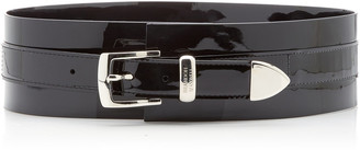 Brandon Maxwell Patent Leather Waist Belt