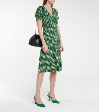 Jemma printed crepe midi dress