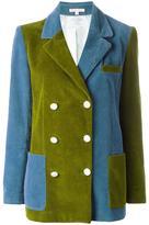 Olympia Le-Tan colour block corduroy blazer - women - Cotton/Cupro - 38