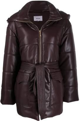 Nanushka Lenox faux leather puffer coat