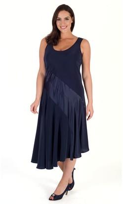 Chesca Satin Back Crepe Dress, Navy
