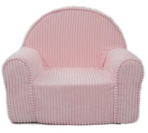 Zoomie Kids Dabrowski Kids Cotton Club Chair Upholstery Color: Chenille - Pink