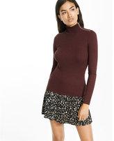 Express ribbed zip turtleneck sweater
