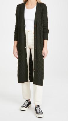 Autumn Cashmere Multi Stitch Patchwork Maxi Cardi