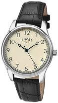 Limit Men's Black Leather Strap Watch