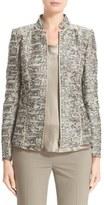 Lafayette 148 New York 'Adley' Stand Collar Jacquard Jacket
