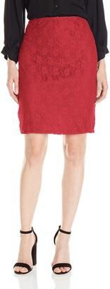 Star Vixen Women's Plus-Size Stretch Sexy Secretary Pencil Skirt-Lined