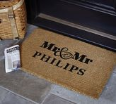 Pottery Barn Mr. and Mr. Doormat