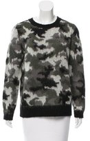 Sandro Camouflage Crew Neck Sweater