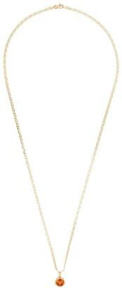 Anais Rheiner 18K gold red spessartite pendant necklace