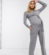 Mama Licious Mama.Licious Mamalicious Maternity lounge two-piece pants in gray marl