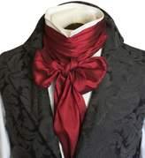 Elegantascot Men's Handmade Extra-Long Regency Dupioni Silk Ascot Tie
