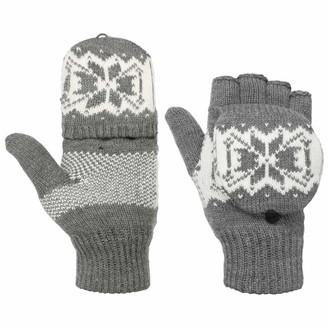 Hatshopping Twotone Thinsulate Fingerless Knit Gloves mittens (10 HS - grey)