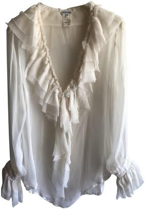 Anna Molinari White Silk Top for Women
