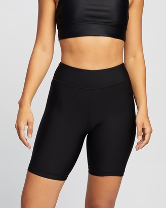 The Upside Women's Black High-Waisted - Matte Spin Shorts - Size XXS at The Iconic