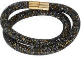 Swarovski Stardust Convertible Crystal Mesh Bracelet/Choker, Black, Medium