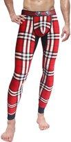 Neleus Men's Cotton Compression Skin Long Johns Pants,145,Red & Camo,S,Tag L