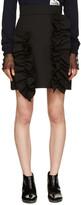 MSGM Black Ruffle Miniskirt