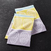 Crate & Barrel Easter Egg Jacquard Dish Towels Set of Two