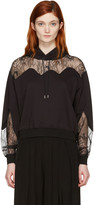 McQ by Alexander McQueen Black Lace-Trimmed Hoodie