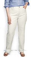 Classic Women's Plus Size High Rise Straight Leg Jeans-Deep Sea Stripe