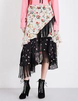 Preen Line Rochelle asymmetric fringed skirt