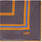 Brioni Triangle-print Silk Pocket Square