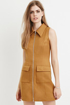Forever 21 FOREVER 21+ Contemporary Zip-Up Textured Dress