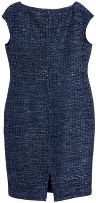 St. John Celeste Marled Knit Sheath Dress