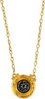 Gurhan Celestial Moonstruck 24k Pave Black Diamond Pendant Necklace