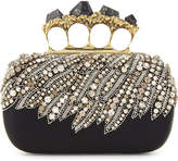 Alexander McQueen Stone knuckle embellished clutch