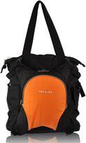 Obersee Innsbruck Diaper Bag Tote with Detachable Cooler in Black/Orange