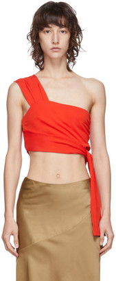 Helmut Lang Red Bandage Top
