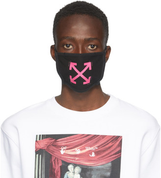 Off-White Black and Pink Arrows Mask