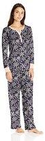 Carole Hochman Women's Waffle Microfleece Pajama Set