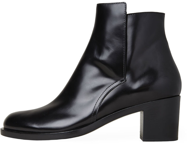 Proenza Schouler glossed ankle boot