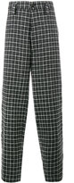 Marni Wool Checked Wide Leg Trousers