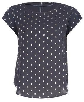 Dorothy Perkins Womens **Only Black Spot Foil Print Top, Black
