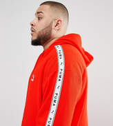 Puma Plus Pullover Hoodie With Sleeve Taping In Red Exclusive To Asos