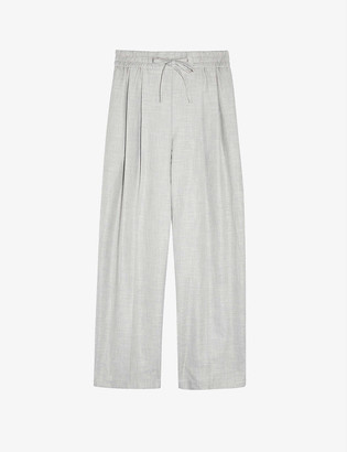 Topshop Tonic cotton and linen-blend jogger trousers