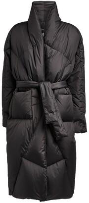KHRISJOY Belted Robe Down Coat