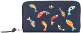 Tory Burch fish ziparound wallet - women - Leather - One Size